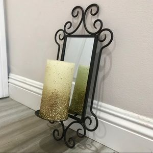 Magical Mirrored Wall Candle Holder